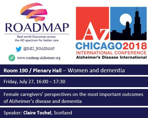 Roadmap Female caregivers' perspectives on the most important outcomes of Alzheimer's disease and dementia International