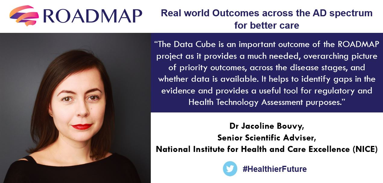 ROADMAP Data Cube, Jacoline Bouvy, Senior Scientific Adviser, National Institute for Health and Care Excellence (NICE)